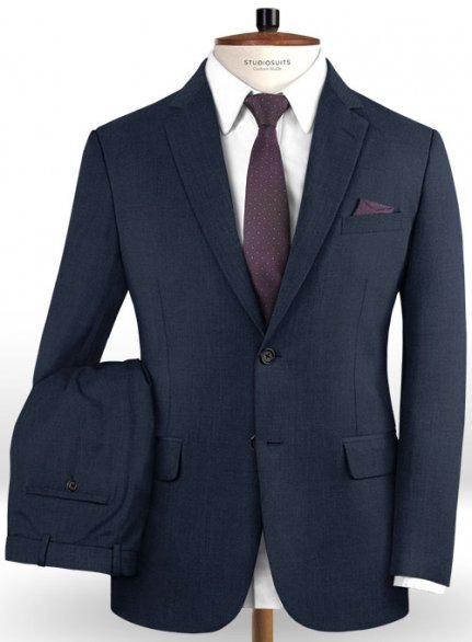Reda Seal Blue Pure Wool Suit