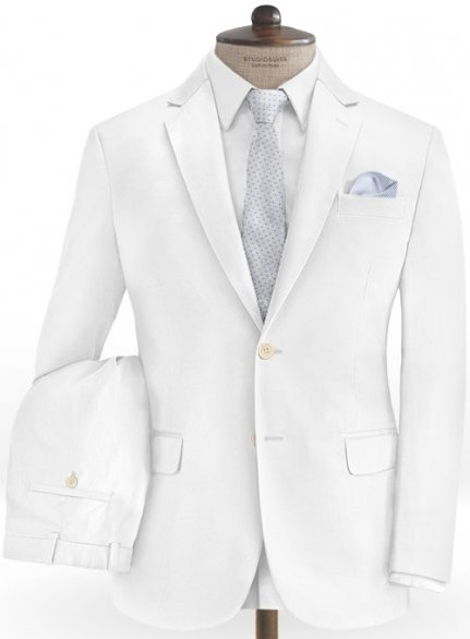 White Stretch Chino Suit