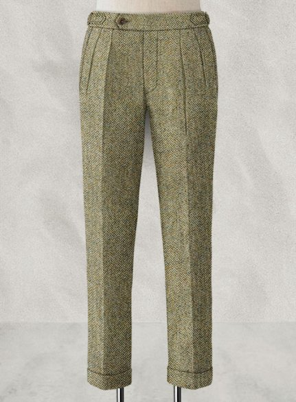 Harris Barley Brown Highland Tweed Trousers