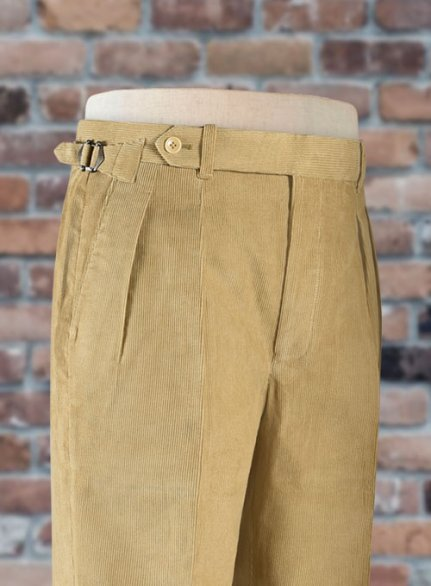 Beige Colonel Corduroy Trousers