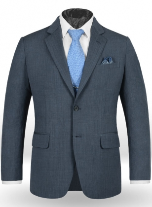 Napolean Fine Blue Wool Jacket - 40R