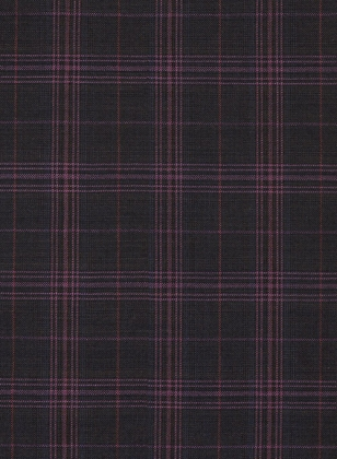 Caviar Purple Checks Wool Suit