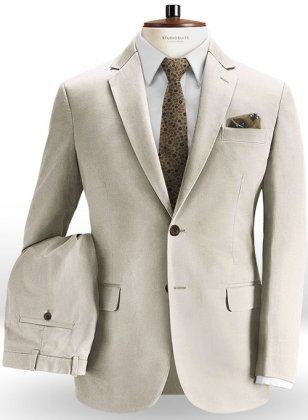 River Beige Chino Suit