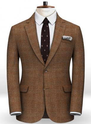 Saga Rust Feather Tweed Jacket