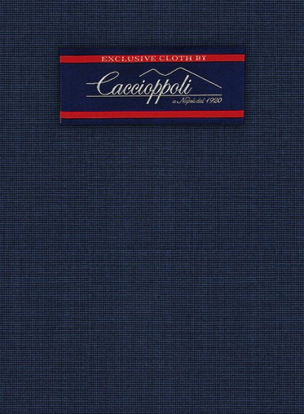 Caccioppoli Wool Blue Iglesi Suit