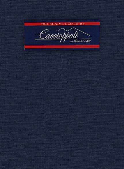 Caccioppoli Wool Blue Sorne Suit