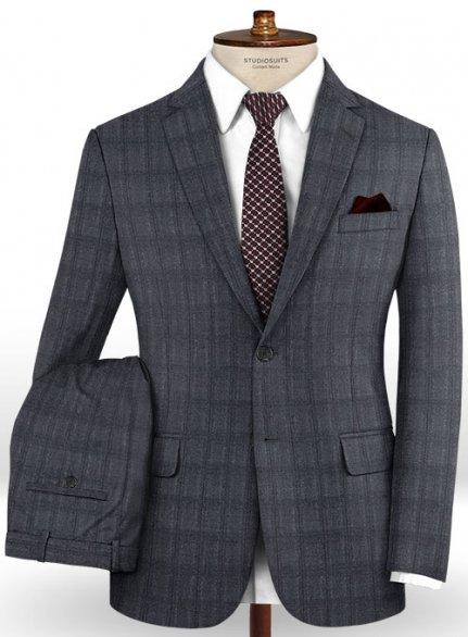 Reda Lunadi Gray Wool Suit