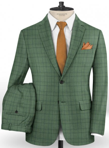 Napolean Corro Green Wool Suit