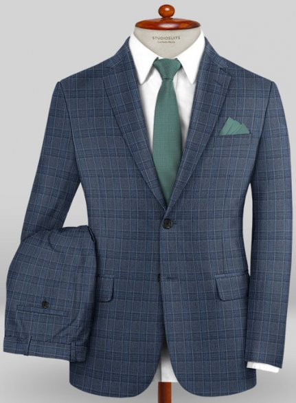 Caccioppoli Wool Blue Ferri Suit