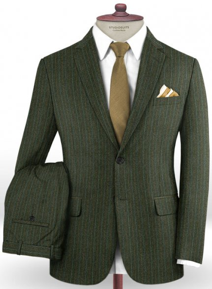 Caccioppoli Dapper Dandy Didena Forest Green Wool Suit