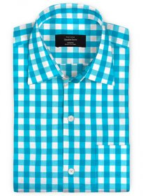 Giza Perto Blue Cotton Shirt