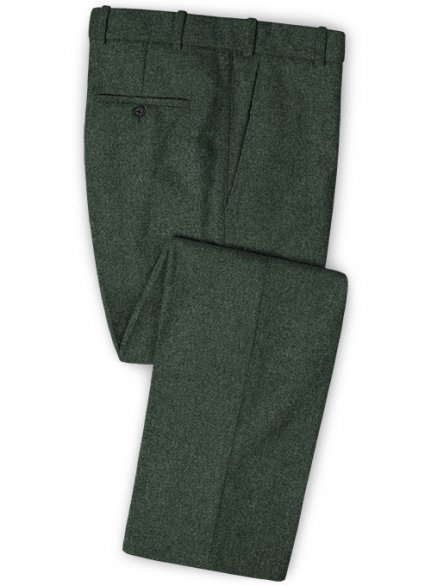 Green Heavy Tweed Pants