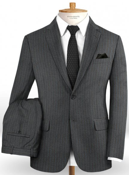 Caccioppoli Dapper Dandy Fione Charcoal Wool Suit