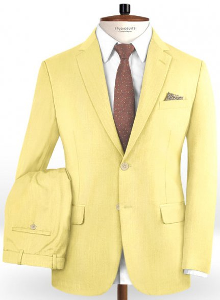 Scabal Yellow Wool Suit