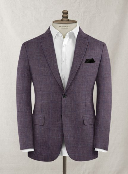 Italian Murano Lovara Checks Wool Jacket