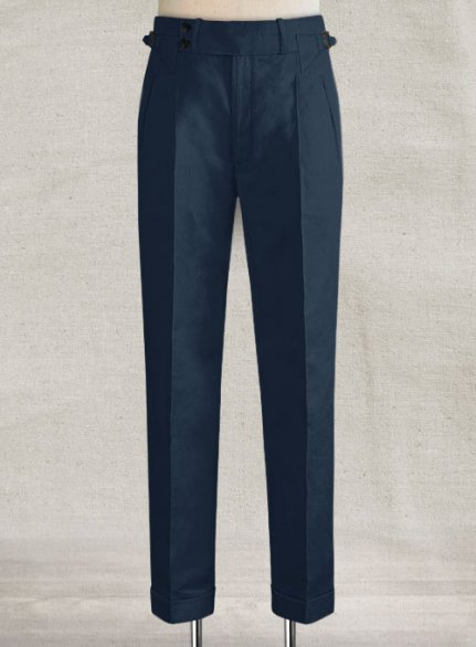 Safari Blue Heritage Cotton Linen Trousers