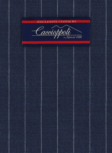 Caccioppoli Fresco Wool Blue Artici Suit