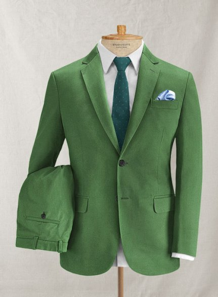 Italian Brushed Cotton Martin Green Suit