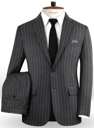 Napolean West Charcoal Wool Suit