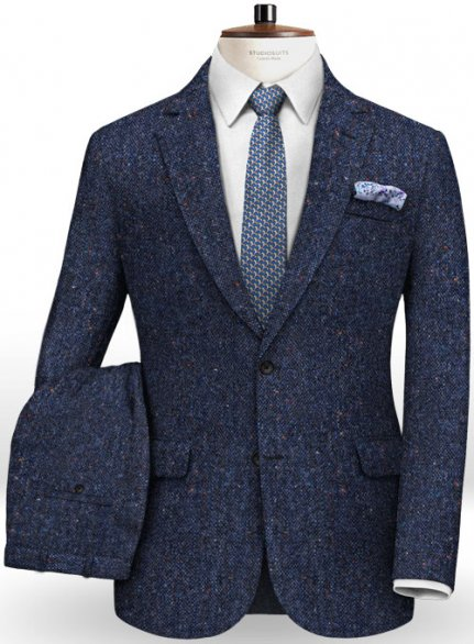 Caccioppoli Donegal Blue Tweed Suit