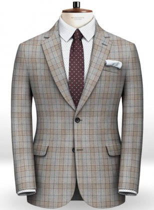 Turin Gray Feather Tweed Jacket