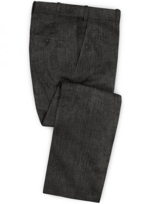 Dark Gray Thick Corduroy Pants