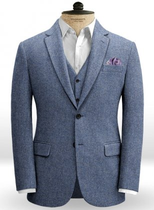 Classic Blue Denim Tweed Jacket