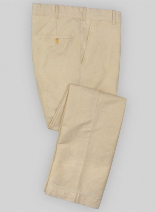 Washed Fawn Safari Cotton Linen Pants