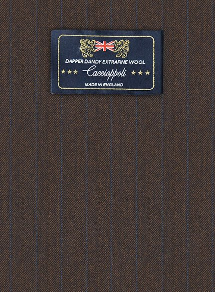 Caccioppoli Dapper Dandy Acula Brown Wool Suit