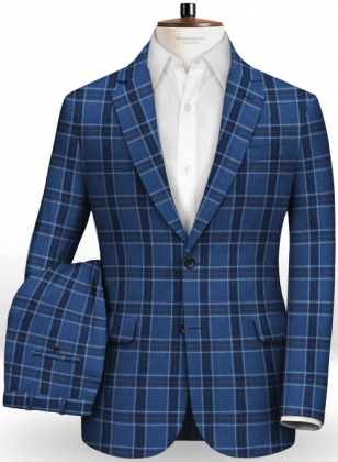 Italian Blue Club Linen Suit