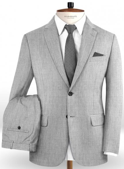 Reda Worsted Light Gray Pure Wool Suit