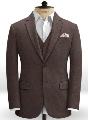Brown Heavy Tweed Jacket