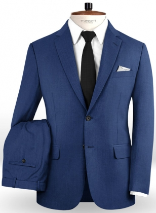 Napolean York Blue Wool Suit