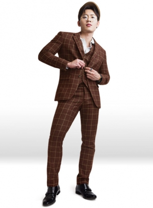 Vintage Brown Glen Royal Tweed Suit