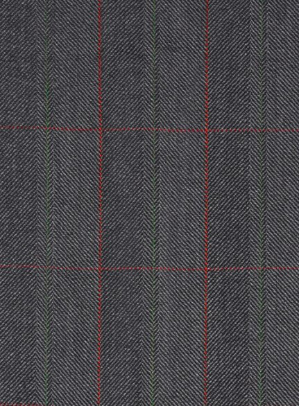 Charles Clayton Ironne Gray Checks Wool Suit