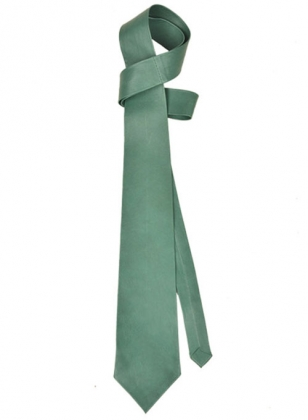 Soft Basque Green Leather Tie