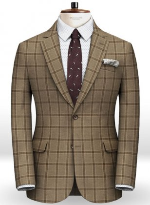 Light Weight Autumn Beige Tweed Jacket