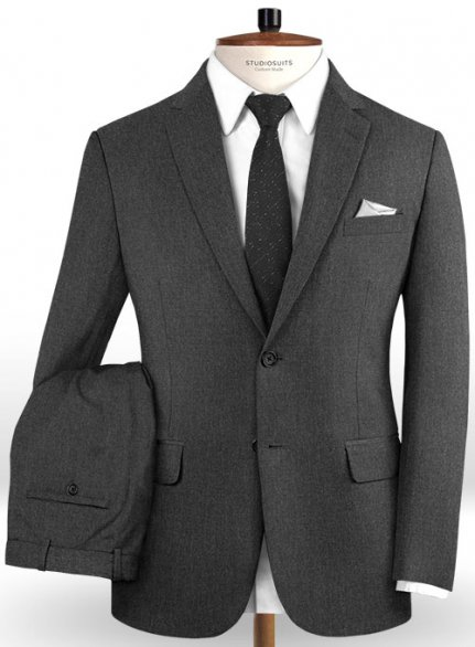 Reda Worsted Dark Gray Pure Wool Suit