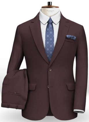 Napolean Wine Wool Suit