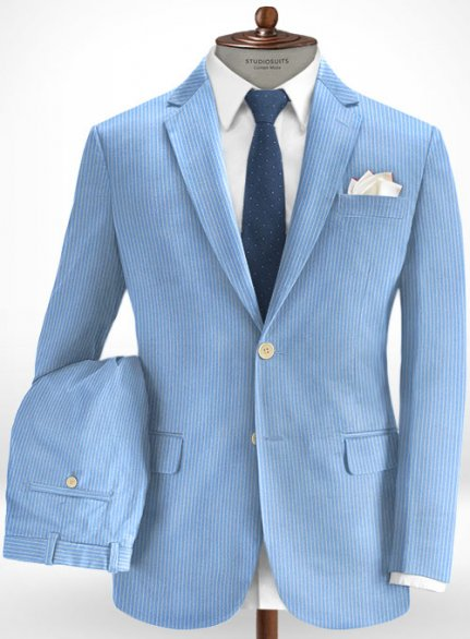 Cotton Inito Blue Suit