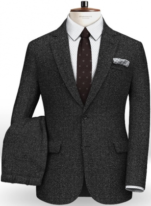 Reda Haze Black Pure Wool Suit