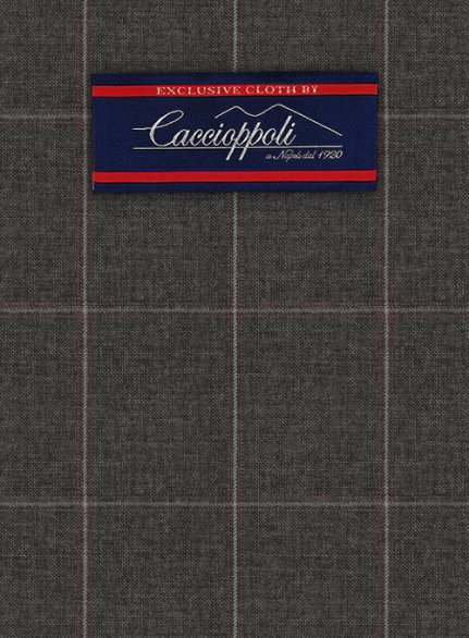 Caccioppoli Wool Gray Eltese Suit