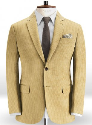 Light Khaki Thick Corduroy Jacket