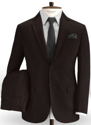 Brown Fine Twill Suit