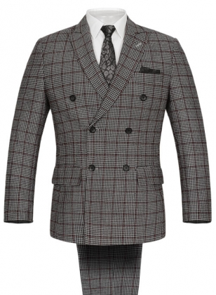 Vintage Checks Houndstooth Tweed Suit