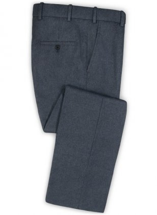 Light Weight Bond Blue Tweed Pants