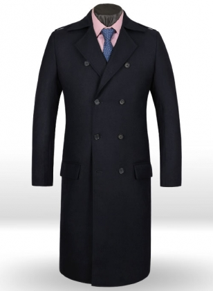 Light Weight Navy Couture Tweed GQ Trench Coat