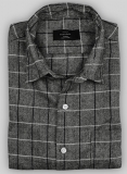 Lt Wt Divine Gray Tweed Shirt - Full Sleeves