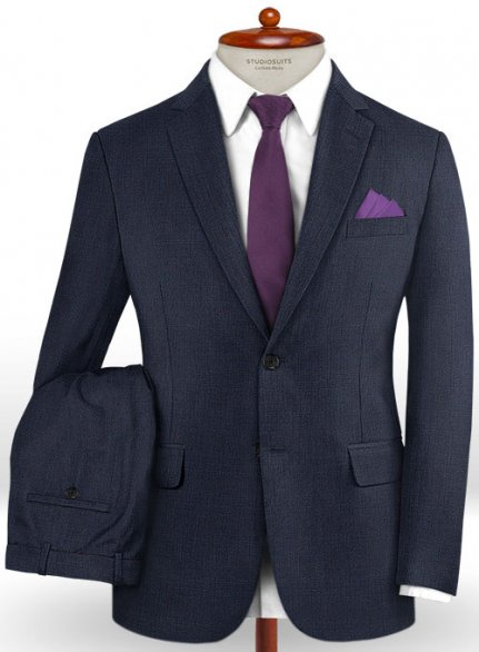 Caccioppoli Dapper Dandy Inato Glen Blue Wool Suit