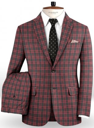 Napolean Poker Charcoal Wool Suit